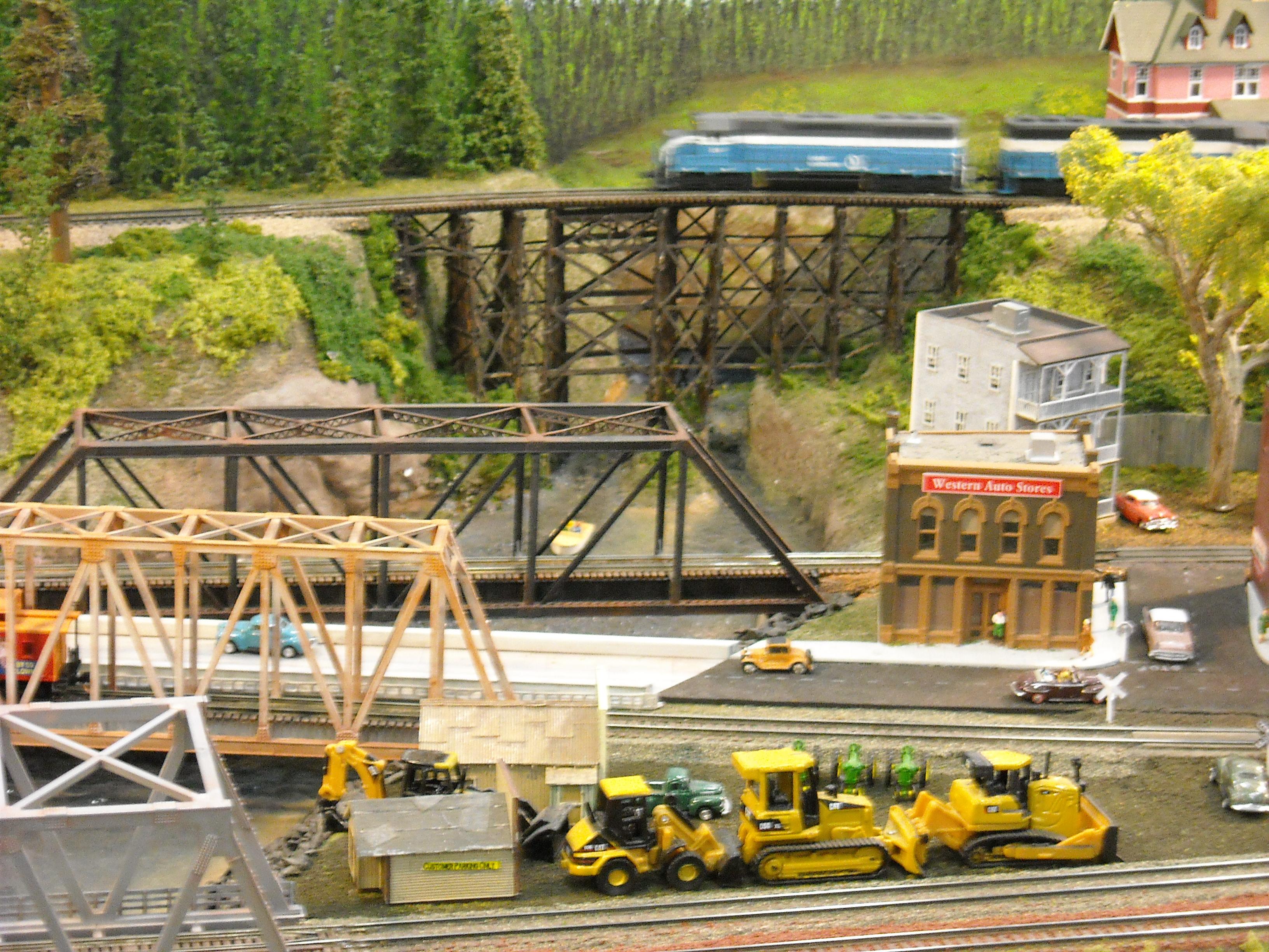 Model railroad canal scene - Model railroad layouts
