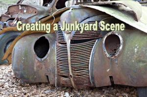 model railroad junkyard