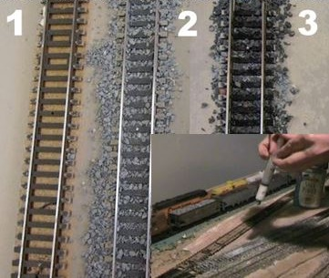 ballasting my model railroad