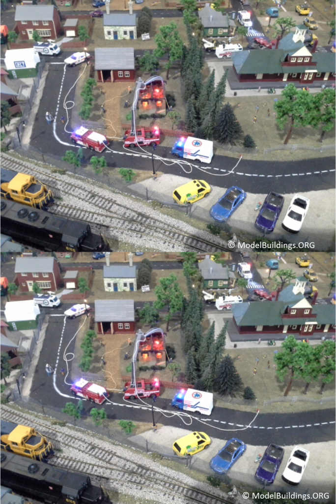 model railroads spot the difference