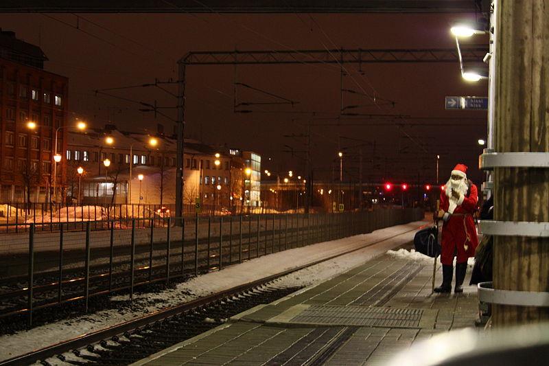 santa at station