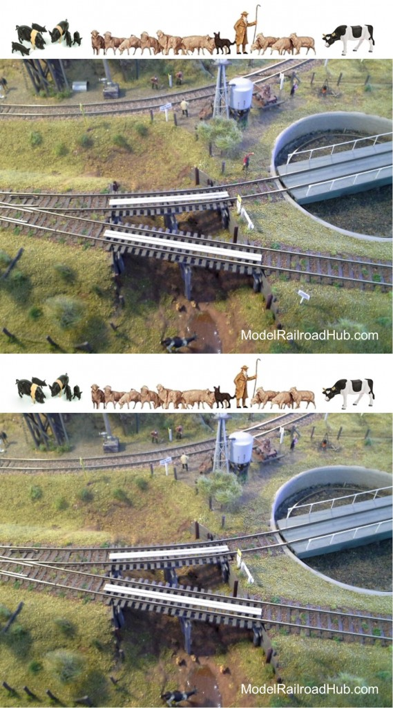 Spot the difference model trains