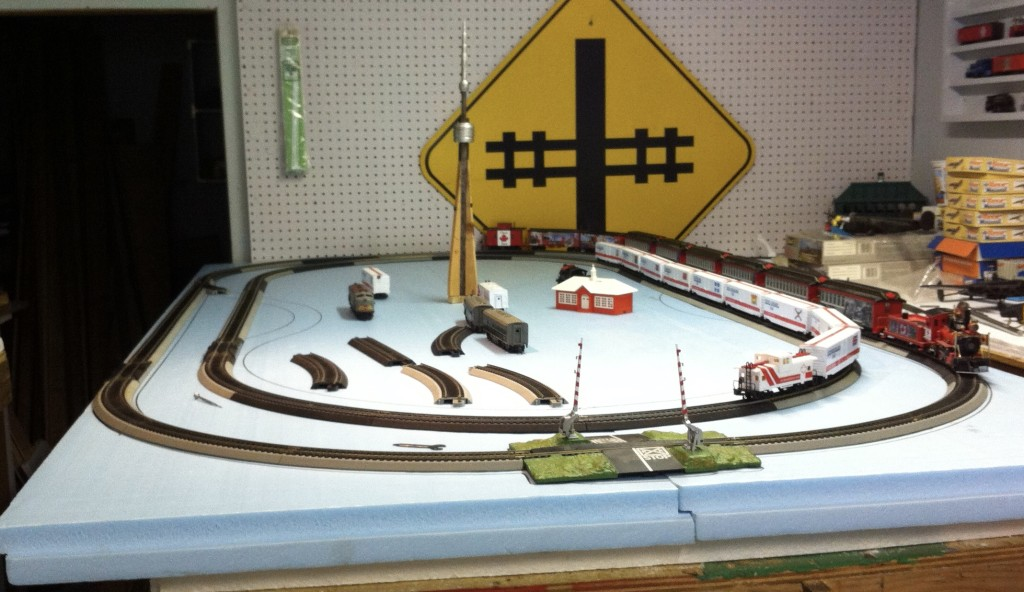 portable model train layout
