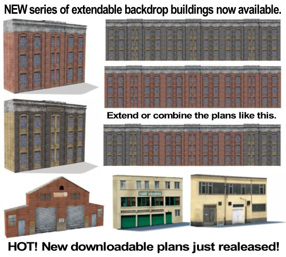 plans for scale model backdrop buildings