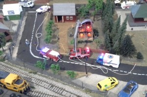 model railway fire