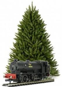 xmas tree train set