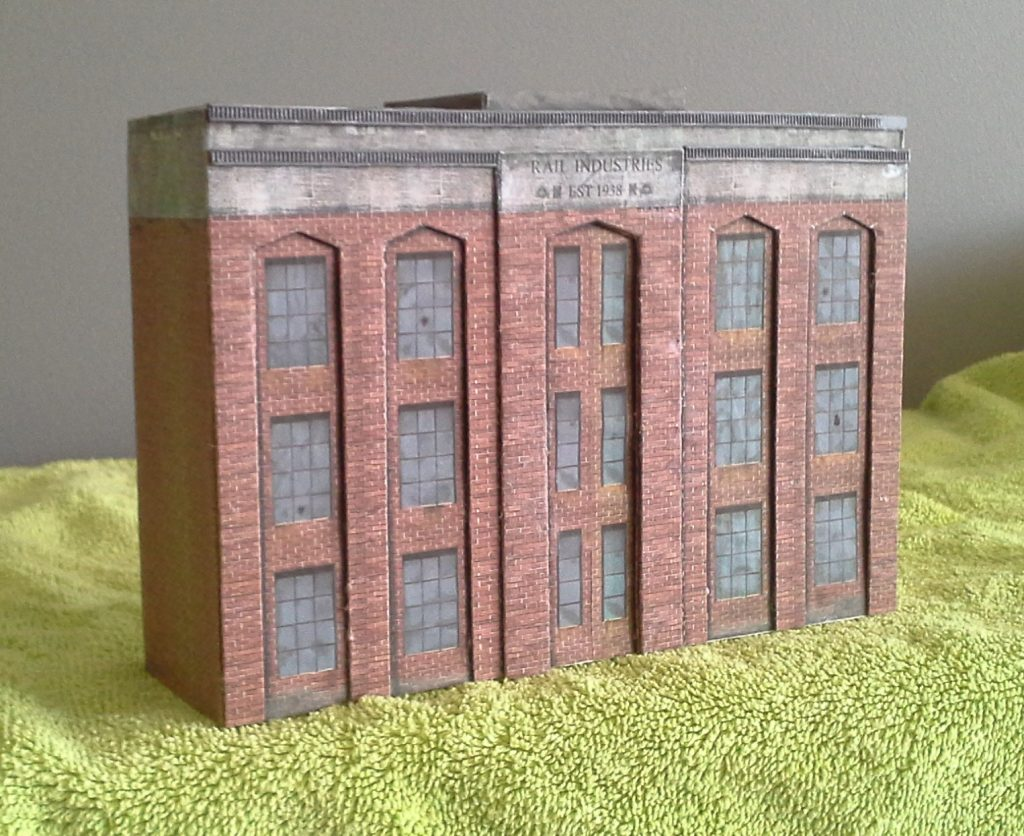long warehouse background structure ho scale