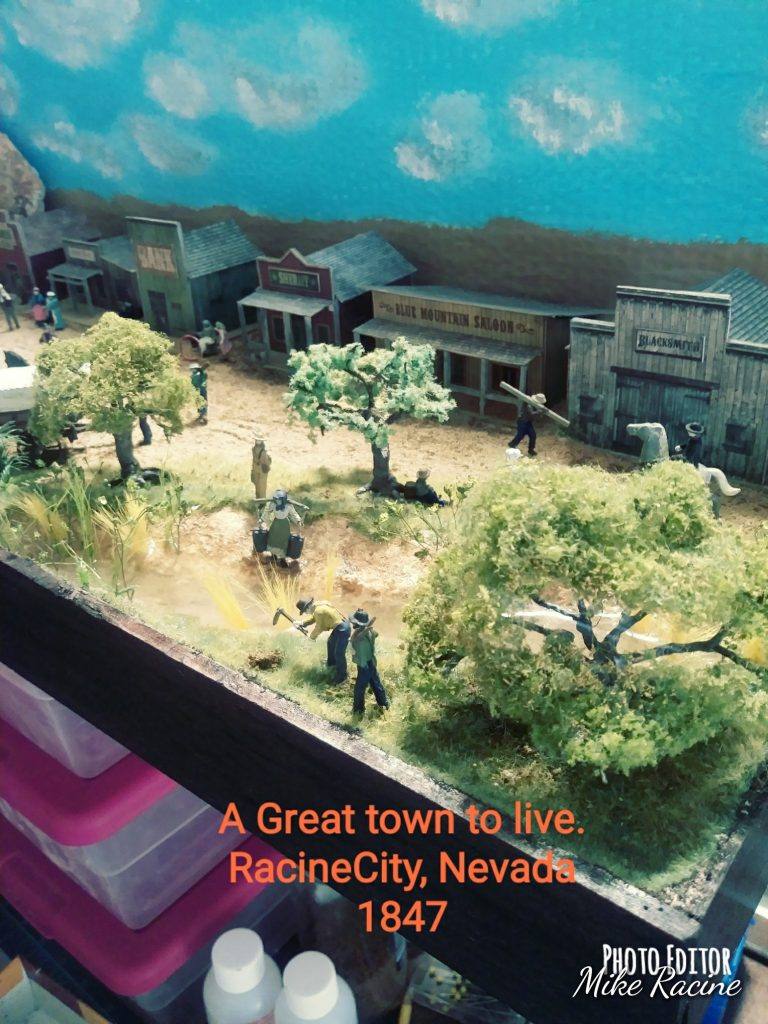 scale models wild western town cowboys