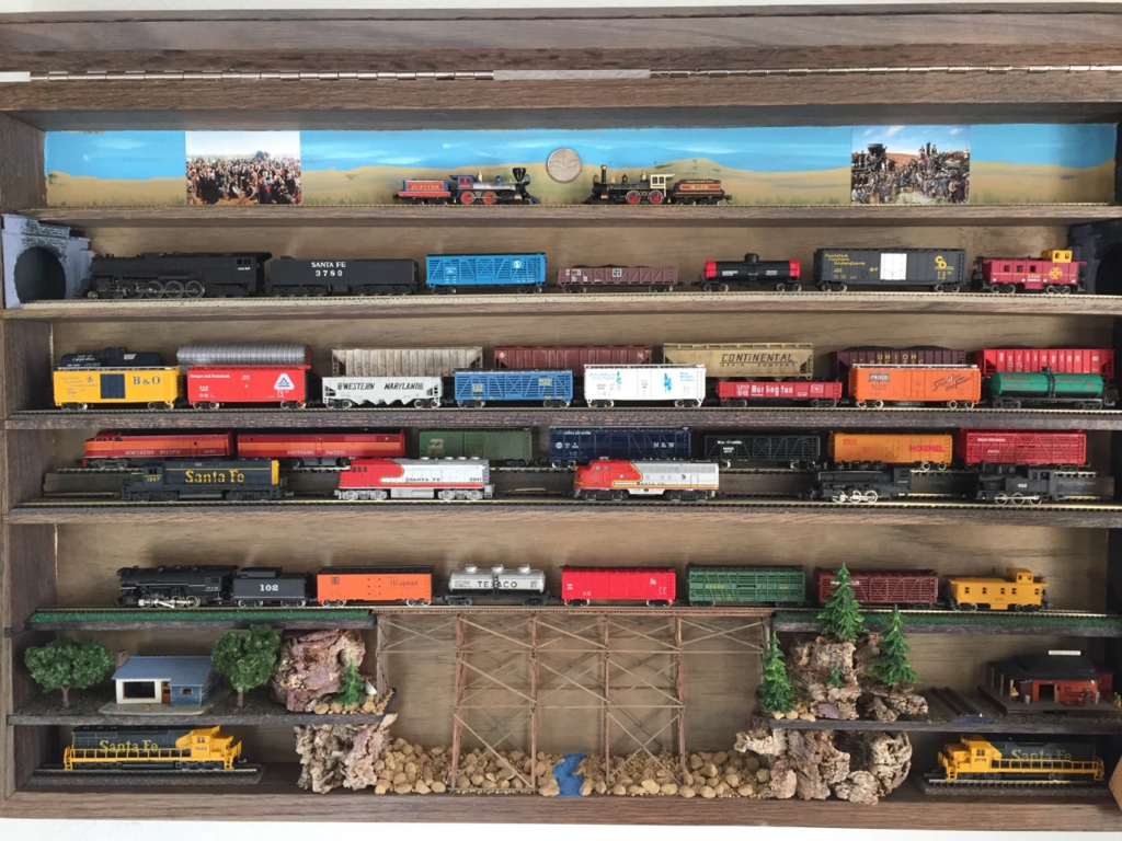 N scale train display