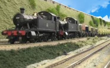 double heading model trains engines