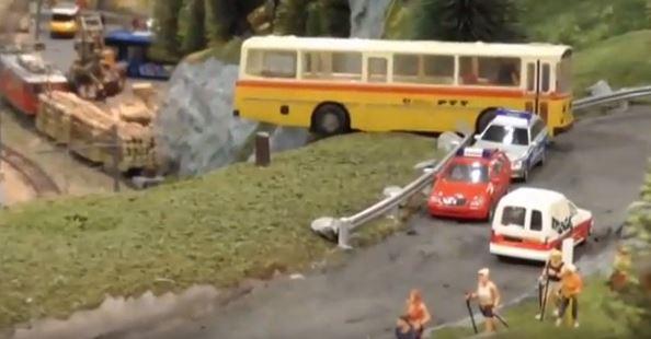 bus accident model railway scotland