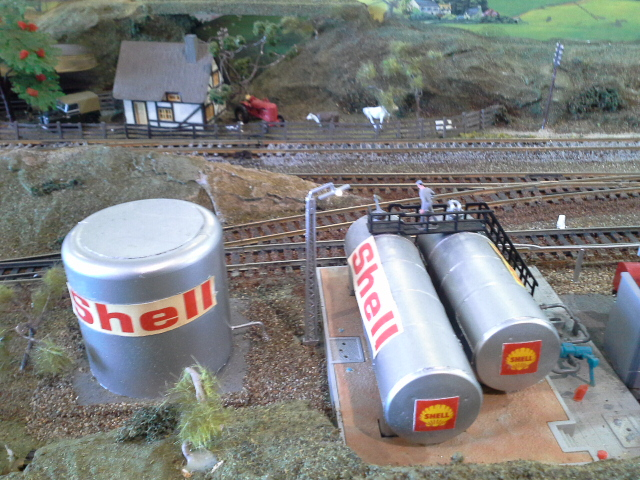 fuel tanks on model railway