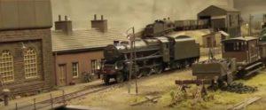 steam locomotive engine at model train show