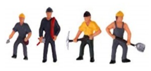 plastic model people ho scale