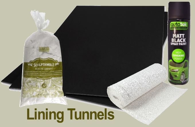 making tunnel linings ho scale trains