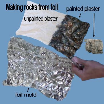 making rocks from foil