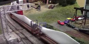 model train wind turbines