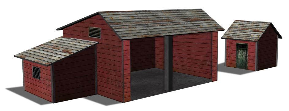ho scale tractor shed models