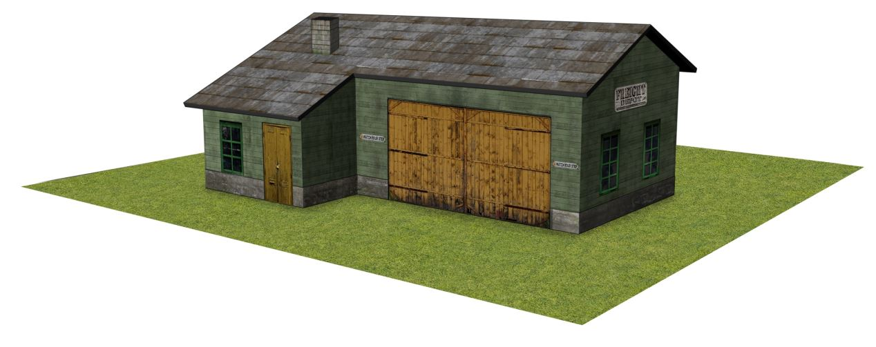 HO scale freight depot models