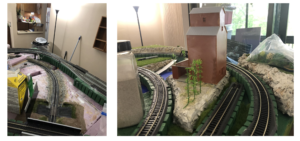 kims model train layout update