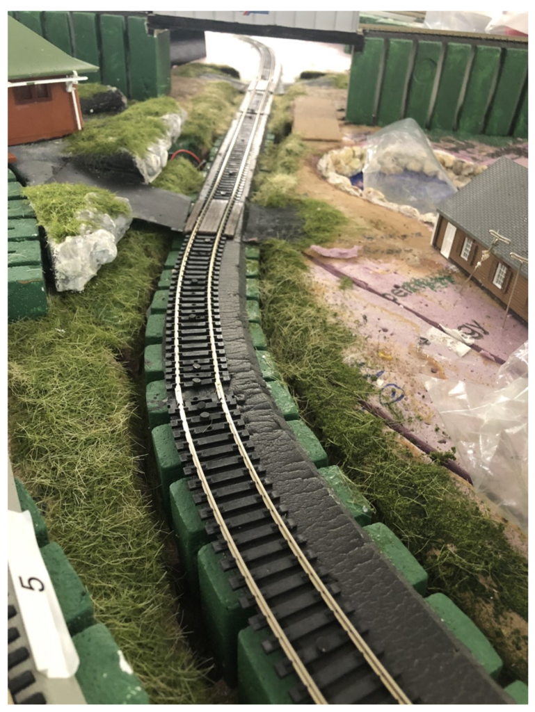 Kims model train layout photo
