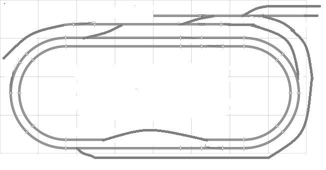 8x4 model train layout track plans