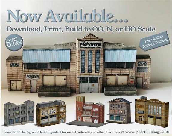 scale model railway industry buildings