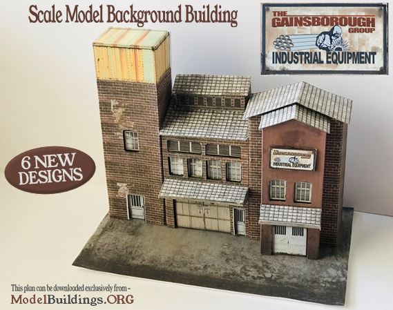 industrial backdrop building ho scale