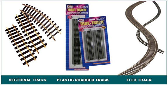 Track types model trains railroads