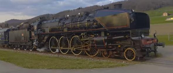 Murder on the Orient Express steam engine