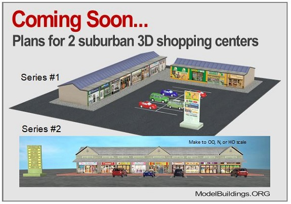 retail shopping centers scale railroad models