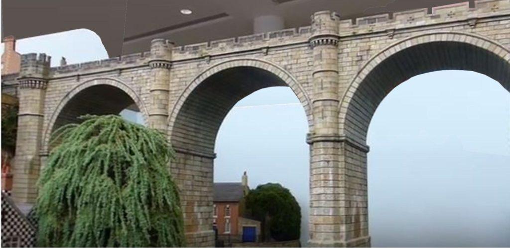 York Model Railway Show arched bridge
