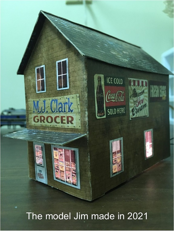 lighting paper model buildings
