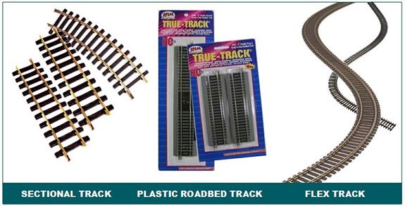 Track types model trains railroads